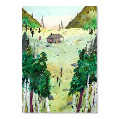Americanflat 'A Hike To The Cabin' by Adrienne Vita Art Print