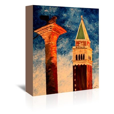 Americanflat 'Venice Campanile' by M Bleichner Art Print Wrapped on Canvas