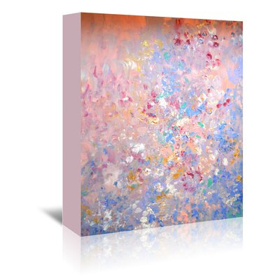 Americanflat 'AcrylicSeries' by Cara Francis Art Print Wrapped on Canvas in Pink