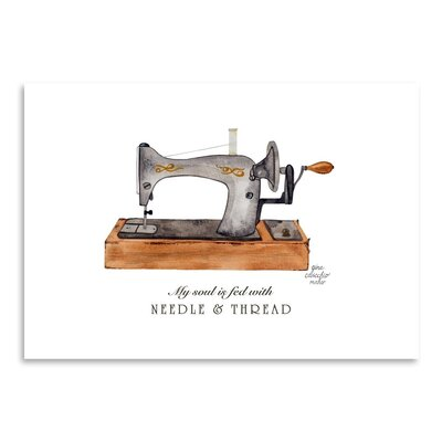 Americanflat 'Sewing Machine' by Gina Maher Art Print