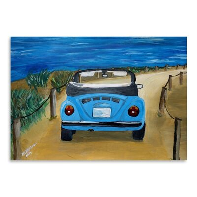 Americanflat Blue Bug At Beach' by Markus Bleichner Art Print