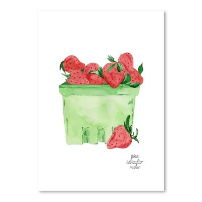 Americanflat 'Strawberries' by Gina Maher Art Print