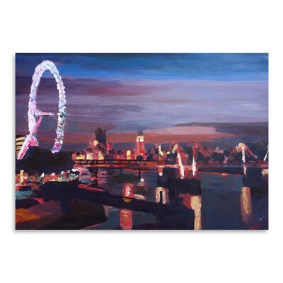 Americanflat 'London Eye Night' by M Bleichner Art Print