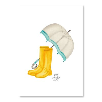 Americanflat 'Rain Boots' by Gina Maher Art Print
