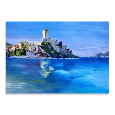 Americanflat Malcesine With Castello Scaligero2' by Markus Bleichner Art Print