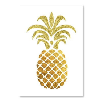 Americanflat 'Pineapple4' by Ikonolexi Graphic Art
