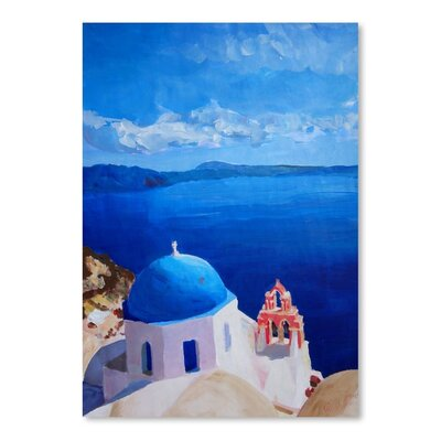 Americanflat 'Santorini Iii Oia2' by M Bleichner Art Print