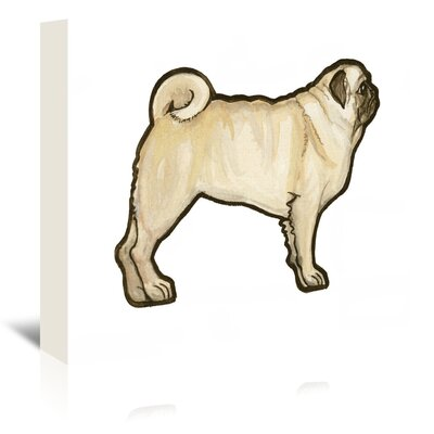 Americanflat 'Pug' by Sally Pattrick Art Print Wrapped on Canvas