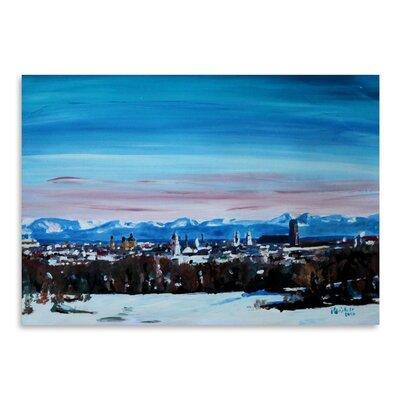 Americanflat 'Snow Covered Winter Munich' by M Bleichner Art Print