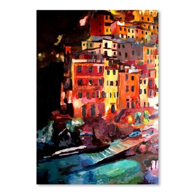 Americanflat 'Magic Cinque Terre Night In Riomaggiore' by M Bleichner Art Print Wrapped on Canvas