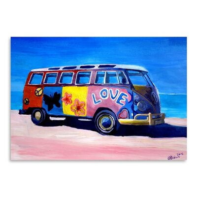 Americanflat The Love Surf Bus' by Markus Bleichner Art Print