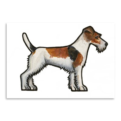 Americanflat 'Fox Terrier' by Sally Pattrick Art Print