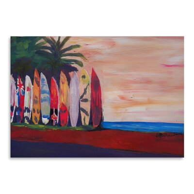 Americanflat Surf Board Fence The Seaside' by Markus Bleichner Art Print