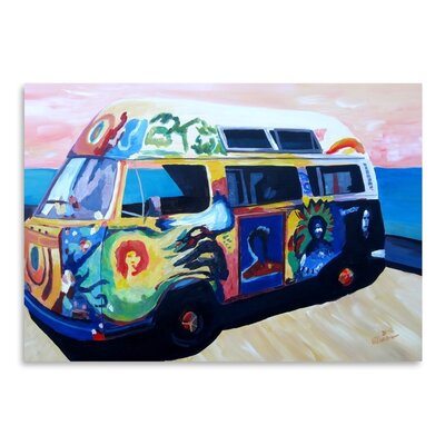 Americanflat The Here Comes The Sun Surf Bus Or' by Markus Bleichner Art Print
