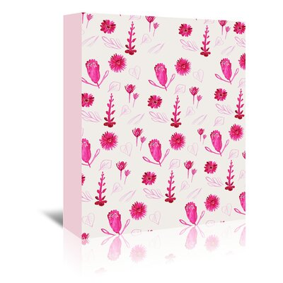 Americanflat 'Magenta Flowers' by Adrienne Vita Art Print Wrapped on Canvas