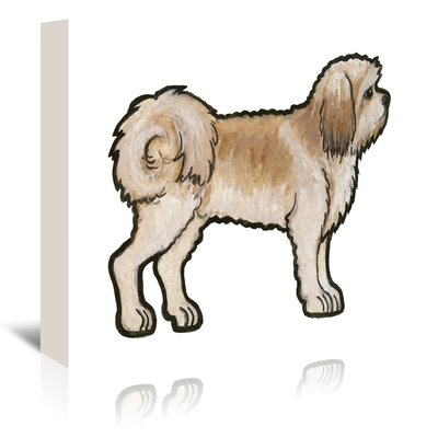 Americanflat 'Lhasa Apso' by Sally Pattrick Art Print Wrapped on Canvas