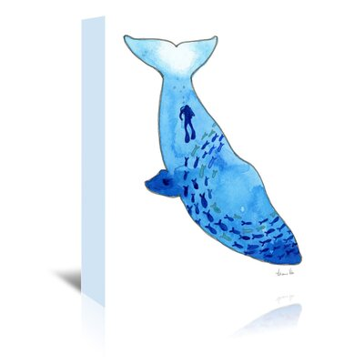 Americanflat 'Whale' by Adrienne Vita Art Print Wrapped on Canvas