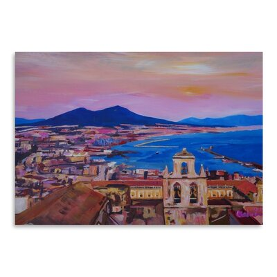 Americanflat City Of Naples Italy With Mount Vesuvio And GulfNew' by Markus Bleichner Art Print