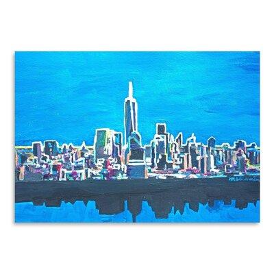 Americanflat Nyc Wtc1 Shimmering Skyline' by Markus Bleichner Art Print