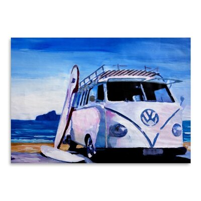 Americanflat The VW Volkswagen Bully Series - The White Bus' by Markus Bleichner Art Print