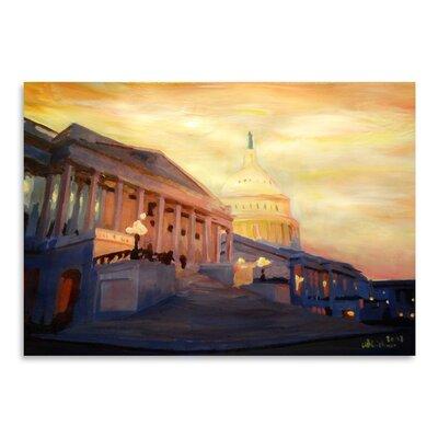 Americanflat 'Washington Capitol2' by M Bleichner Art Print