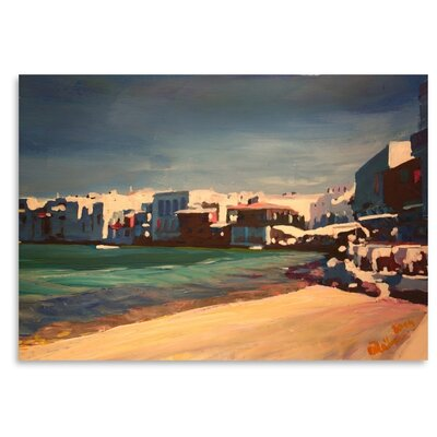 Americanflat Mykonos Greece Little Venice Seascape' by Markus Bleichner Art Print Wrapped on Canvas