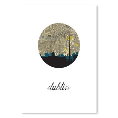 Americanflat 'Dublin Map Skyline' by PaperFinch Graphic Art