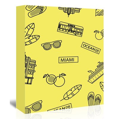 Americanflat 'Miami' by The Glass Mountain Graphic Art Wrapped on Canvas