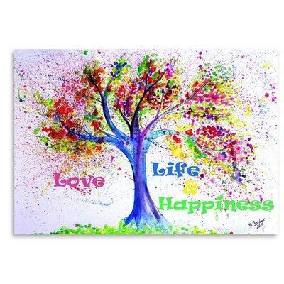 Americanflat Tree Love Life Happiness' by Markus Bleichner Art Print