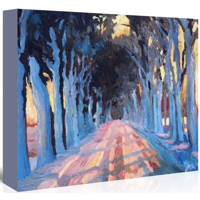 Americanflat Winter Alley 2' by Markus Bleichner Art Print Wrapped on Canvas
