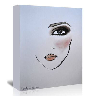 Americanflat 'MaybellineNY_Smoky&Sassy' by Cara Francis Art Print Wrapped on Canvas