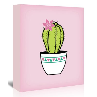 Americanflat 'Green Cactus' by Ashlee Rae Graphic Art Wrapped on Canvas