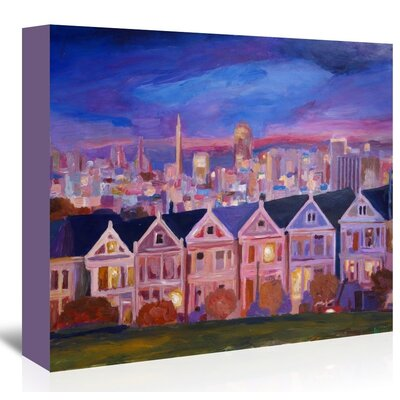 Americanflat 'San Francisco - Painted Ladies' by M Bleichner Art Print Wrapped on Canvas