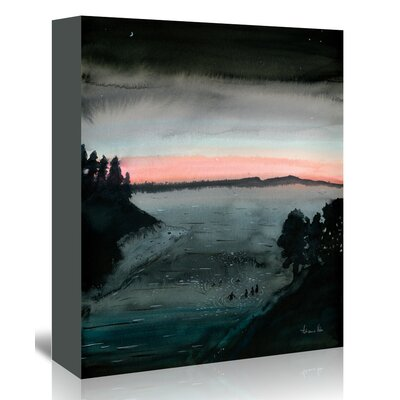 Americanflat 'Night Swimmers' by Adrienne Vita Art Print Wrapped on Canvas