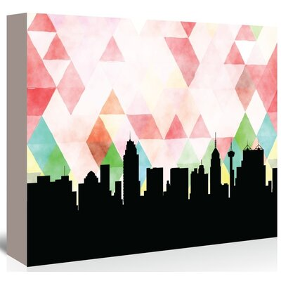 Americanflat 'SanAntonio_Triangle' by PaperFinch Graphic Art Wrapped on Canvas