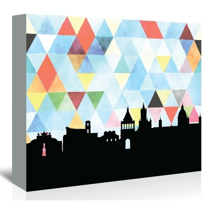 Americanflat 'Palermo_Triangle' by PaperFinch Graphic Art Wrapped on Canvas