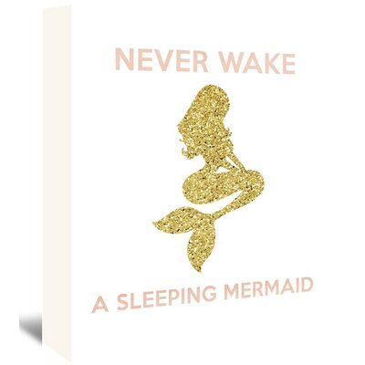 Americanflat 'Never Wake a Sleeping Mermaid' Vintage Advertisement Wrapped on Canvas