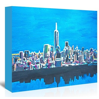 Americanflat Nyc Wtc1 Shimmering Skyline' by Markus Bleichner Art Print Wrapped on Canvas