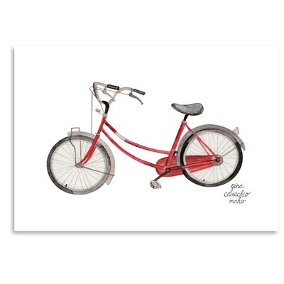 Americanflat 'Bicycle' by Gina Maher Art Print