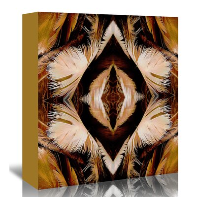 Americanflat 'Brown feathers X2' by Rose Anne Colavito Graphic Art Wrapped on Canvas