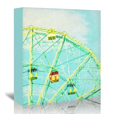 Americanflat 'Ferris-Wheel' by Mina Teslaru Graphic Art Wrapped on Canvas