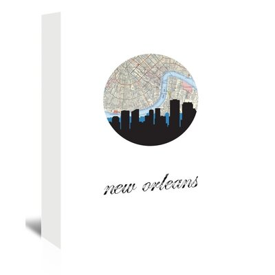 Americanflat 'New Orleans Map Skyline' by PaperFinch Graphic Art Wrapped on Canvas