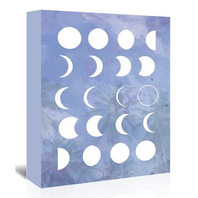 Americanflat 'Moonphases_Purple' by The Glass Mountain Graphic Art Wrapped on Canvas