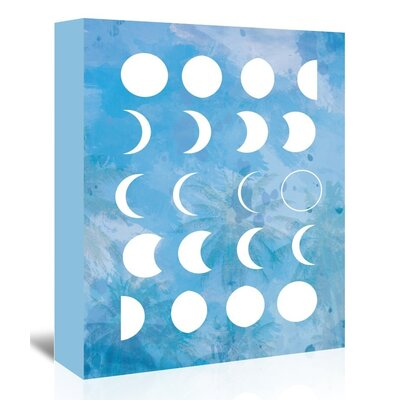 Americanflat 'Moonphases' by The Glass Mountain Graphic Art Wrapped on Canvas in Blue
