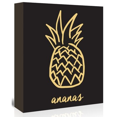 Americanflat 'Ananas' The Glass Mountain Graphic Art Wrapped on Canvas