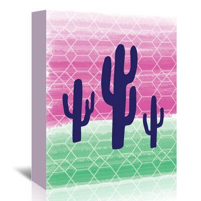 Americanflat 'Geo Cactus' by Ashlee Rae Graphic Art Wrapped on Canvas