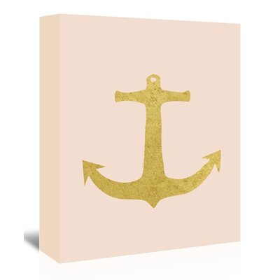 Americanflat 'Gold Anchor' by Peach & Gold Graphic Art Wrapped on Canvas