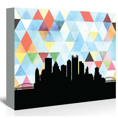 Americanflat 'Pittsburgh_Triangle' by PaperFinch Graphic Art Wrapped on Canvas