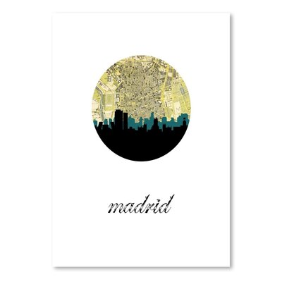 Americanflat 'Madrid Map Skyline' by PaperFinch Graphic Art