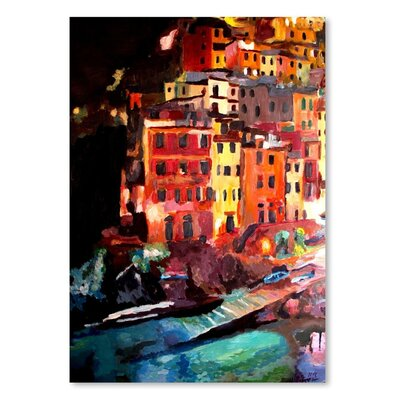 Americanflat 'Magic Cinque Terre Night In Riomaggiore' by M Bleichner Art Print